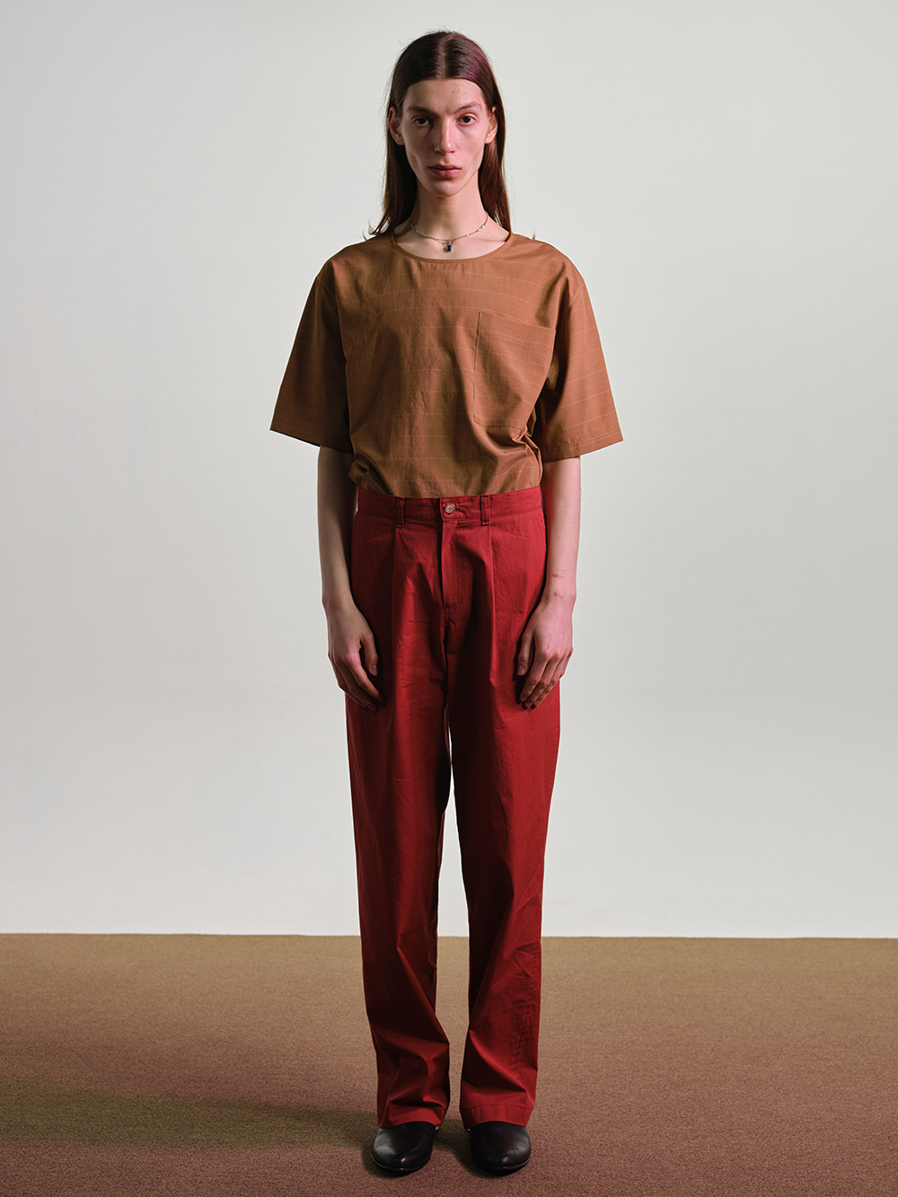 RELAXED PANTS RED