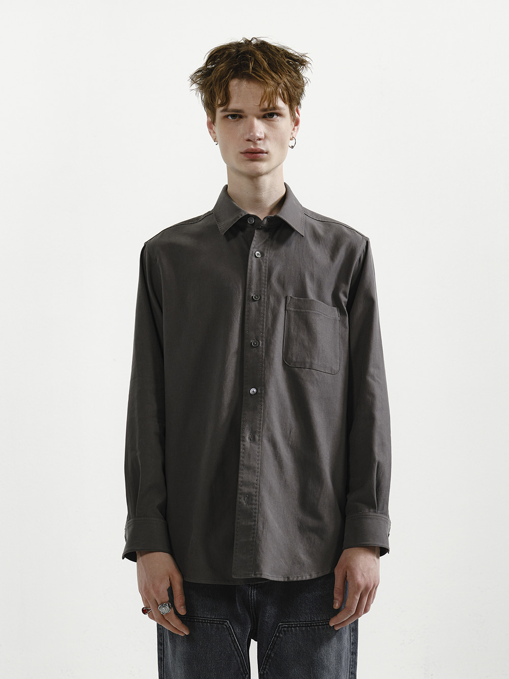 LONG SLEEVE SHIRT CHARCOAL
