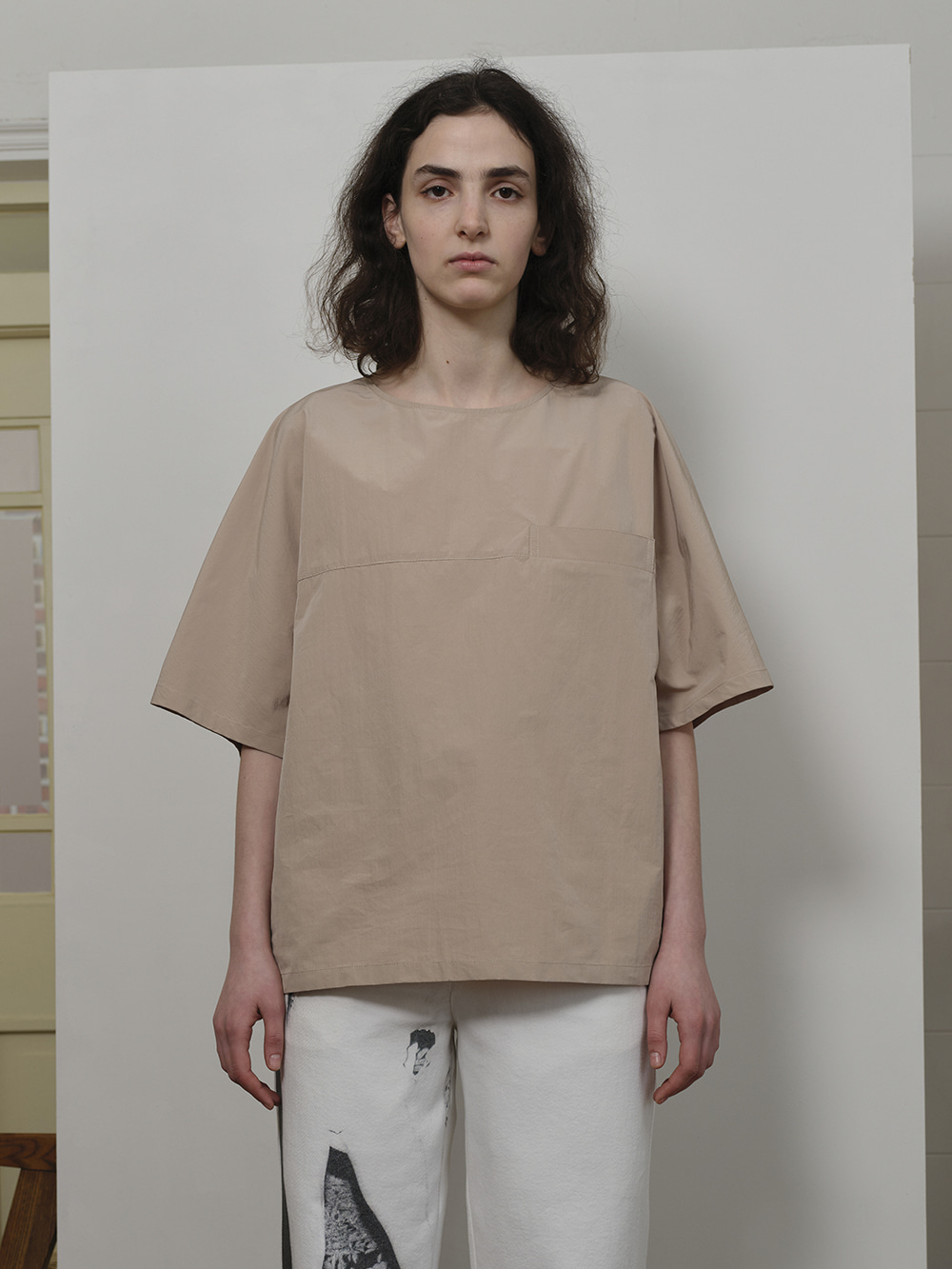 WELT POCKET S/S TOP BEIGE