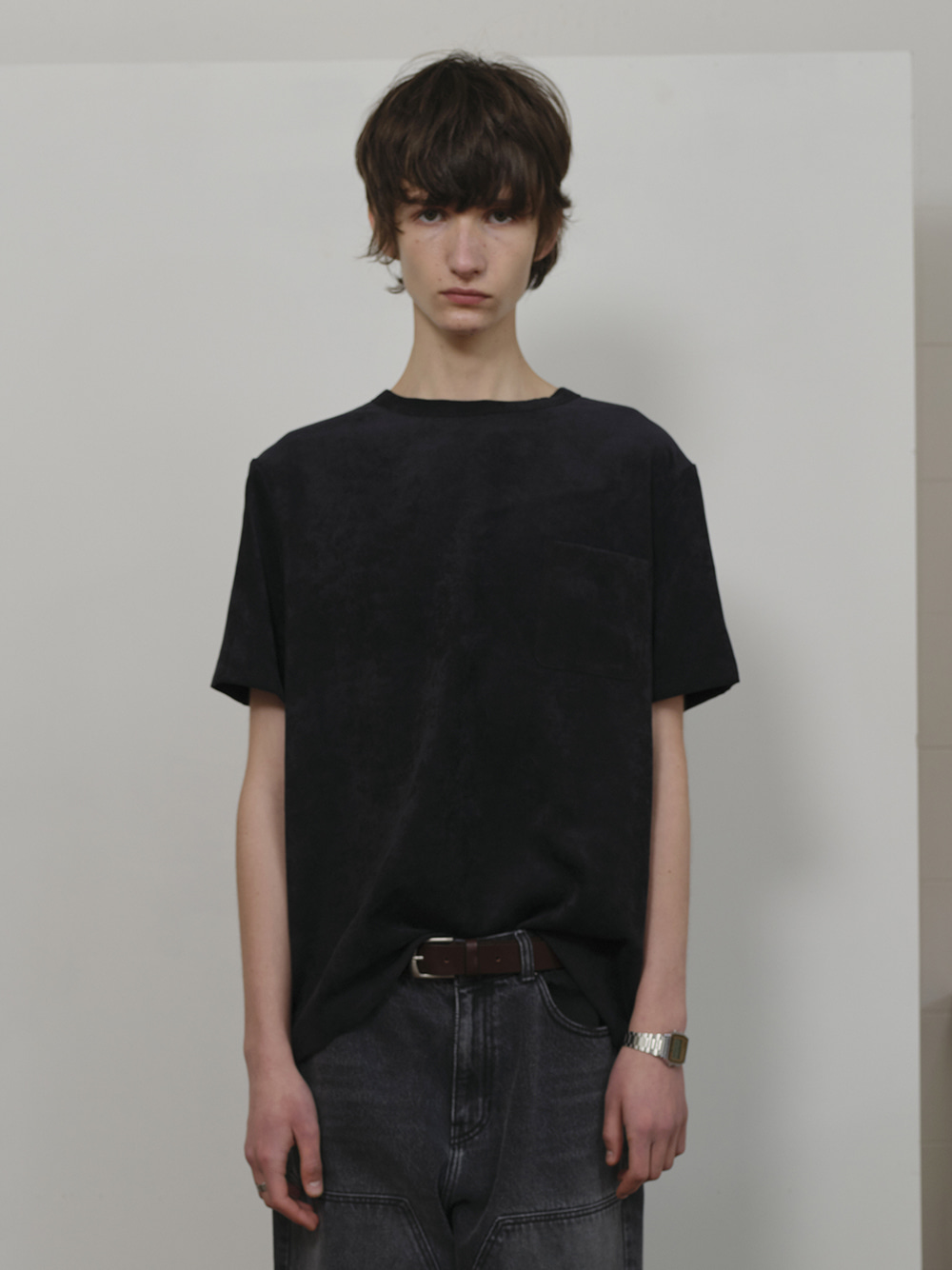CORDUROY T-SHIRT BLACK