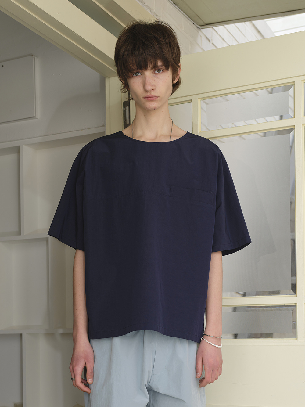 WELT POCKET S/S TOP NAVY